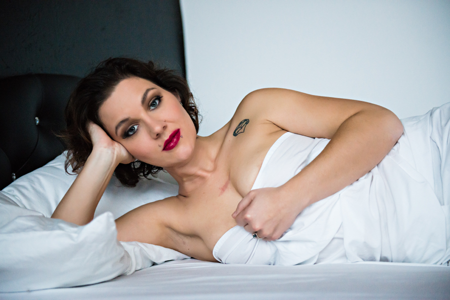 White Sheets Boudoir Photography Session
