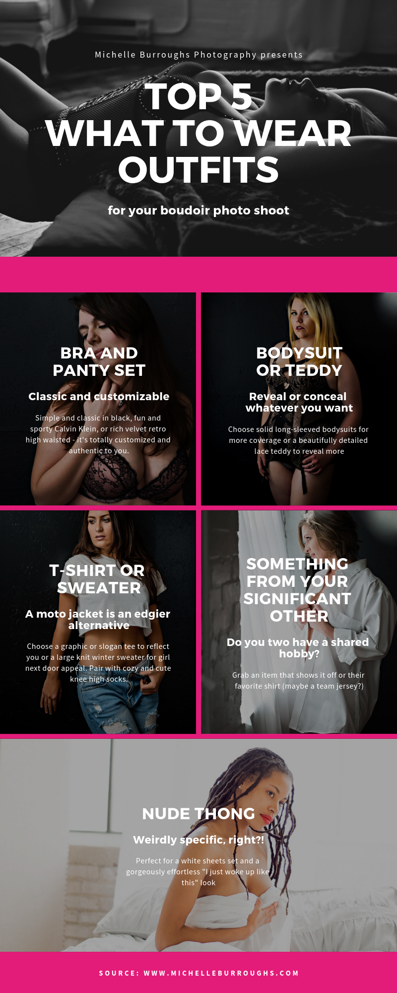 My Top 5 What to Wear Suggestions for Your Boudoir Photo Shoot by Michelle Burroughs Photography