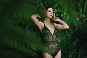 Jungle Inspired Boudoir Photography Shoot