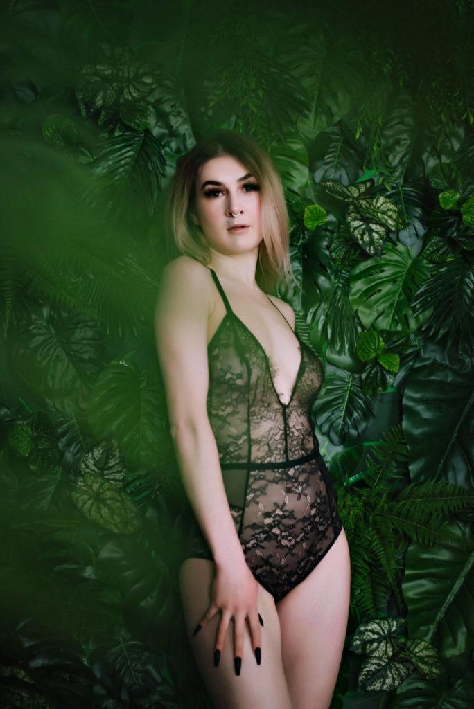 Jungle Inspired Boudoir Photo Shoot