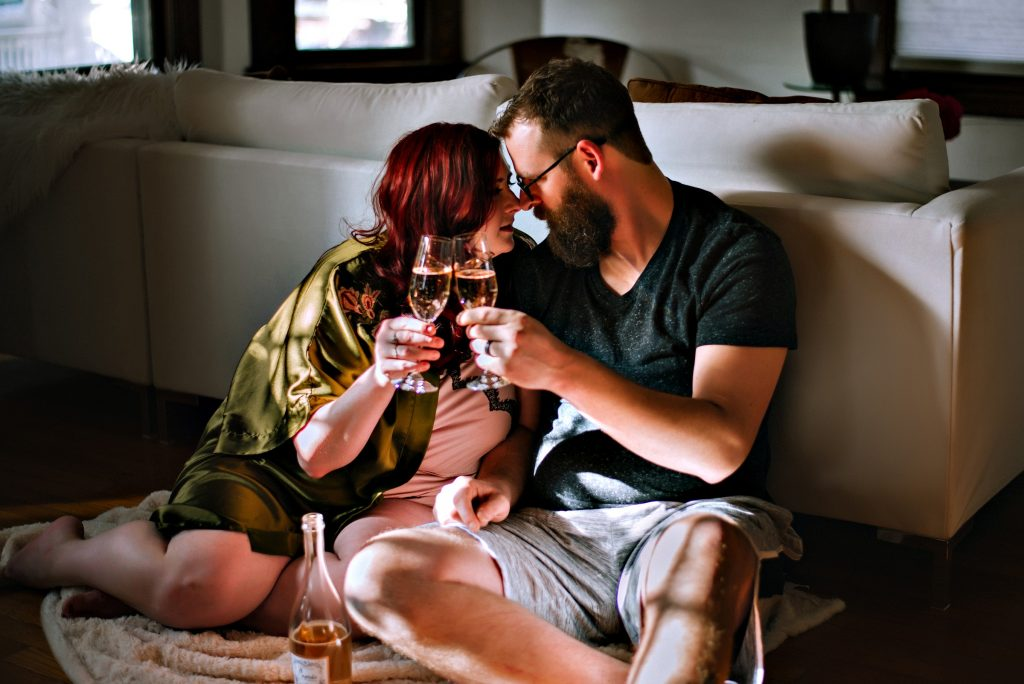 Grand Rapids Michigan Couples Boudoir Photography